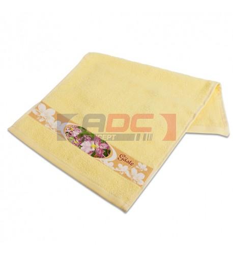 Serviette en coton jaune 400 gr/m² 30 x 50 cm (vendu à l'unité)