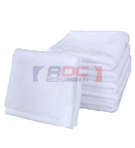 Serviette de toilette avec recto polyester pour sublimation et verso coton 30 x 30 cm - 40 x 63 cm (vendu à l'unité)