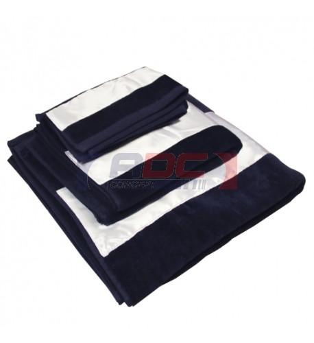 Serviette de bain 600gr/m² en coton bleu marine