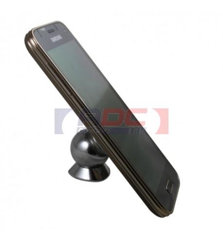 Support smartphone magnétique argenté avec plaque alu sublimable (vendu à l'unité)