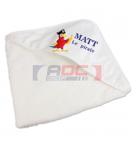 Sortie de bain en éponge pour enfants avec capuche sublimable