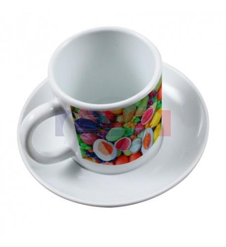 tasse caf soucoupe en polym re plastique incassable. Black Bedroom Furniture Sets. Home Design Ideas