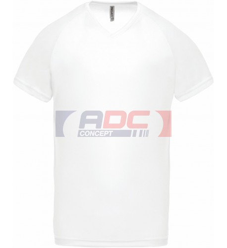 Tee-shirt homme sport 100% polyester col V ProAct PA476 - 11 coloris