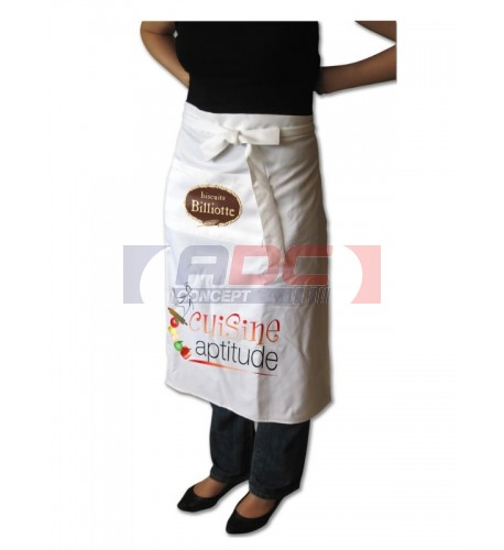 Tablier de bistrot blanc 270 gr/m² 70 x 80 cm (vendu à l'unité)