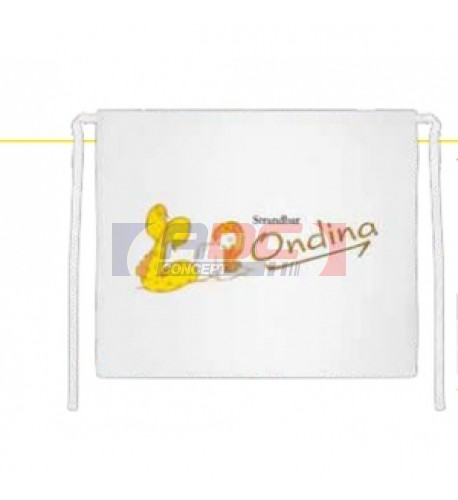 Tablier de ceinture blanc 100 x 90 cm (vendu à l'unité)