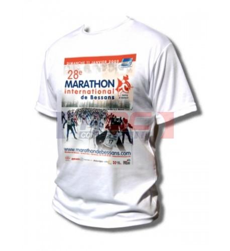 Tee-shirt adulte 190 gr/m² toucher coton 100% polyester S à XXXXXL (vendu à l'unité)