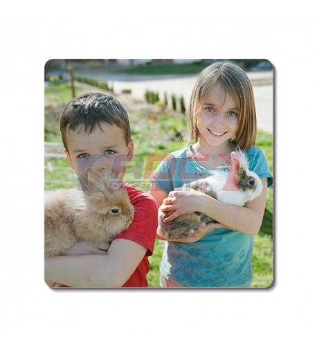 Tableau photo Chromaluxe en aluminium blanc brillant 10 x 10 cm (vendu à l'unité)