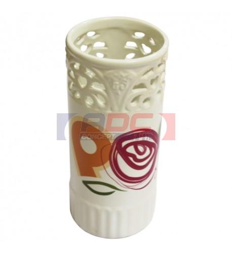 Vase en céramique émaillé pour sublimation H 19.5 cm Ø 8.5 cm
