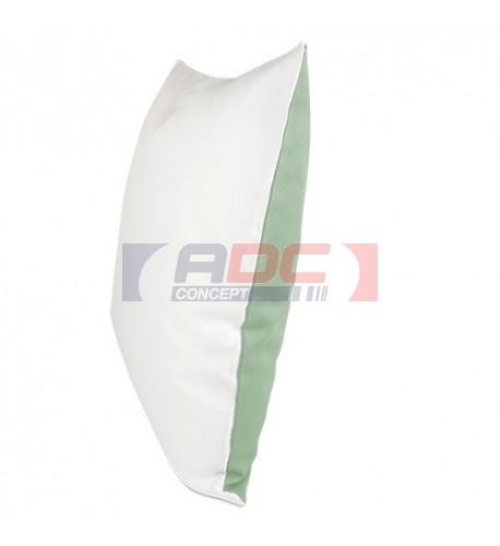 Housse de coussin bicolore vert océan 40 x 40 cm surface structurée (vendu à l'unité)