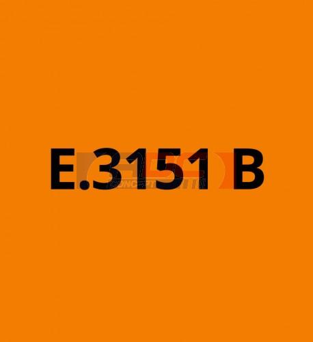 E3151B Orange brillant - Vinyle adhésif Ecotac - Durabilité jusqu'à 6 ans