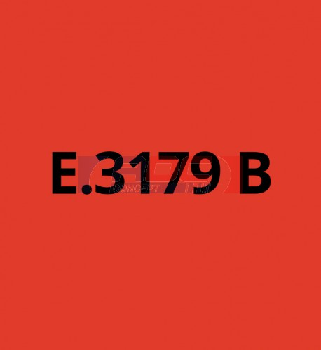 E3179B Rouge Traffic brillant - Vinyle adhésif Ecotac - Durabilité jusqu'à 6 ans