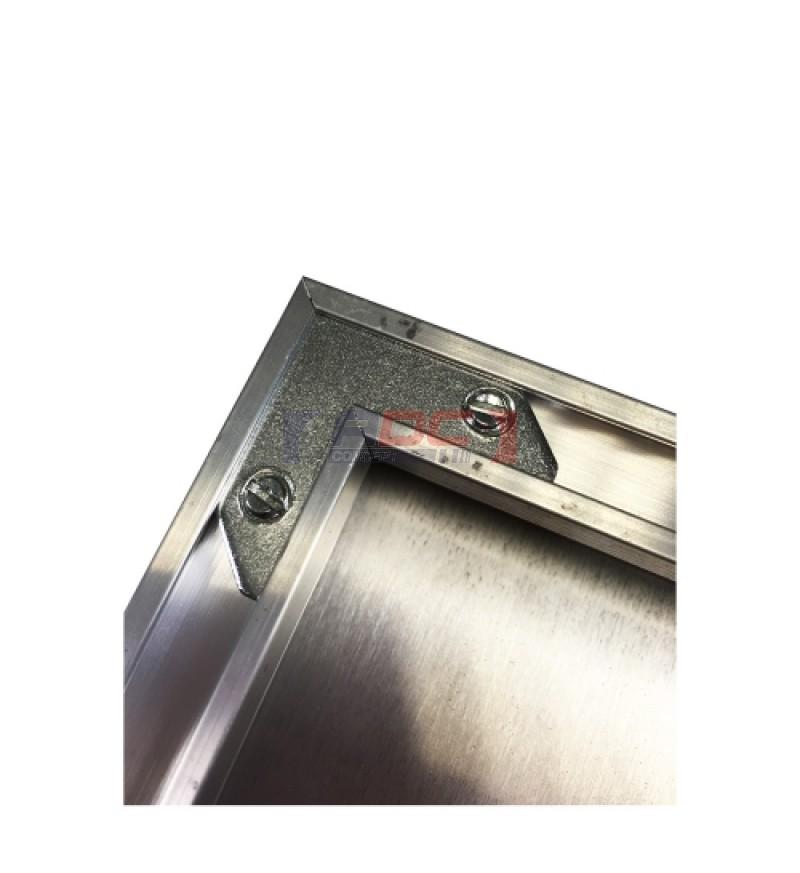 cadre 24 x 36 cm argent 233 pour plaque alu hd wunderboard adc concept
