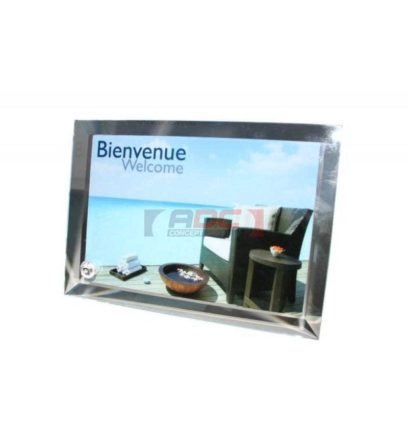 cadre en verre great plafonnier led huberta avec un cadre couleur alu lampenwelt with cadre en. Black Bedroom Furniture Sets. Home Design Ideas