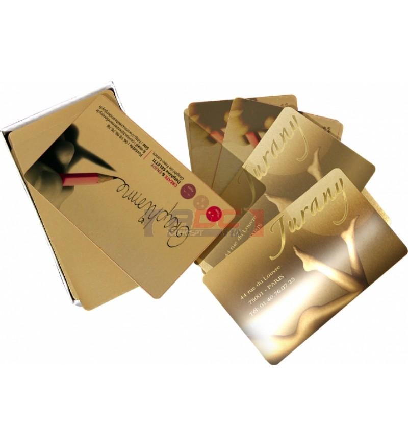 Cartes De Visite Mtallique