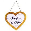 Pancarte en bois HDF à suspendre coeur 22,2 x 19,4 cm pour sublimation