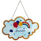 Pancarte en bois HDF à suspendre nuage 28 x 17,6 cm pour sublimation
