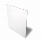 Plaque aluminium 0.5 mm blanc brillant 15 x 20 cm