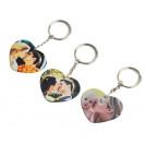 Porte-clé plastique coeur 5 x 5 cm marquage 1 face (vendu à l'unité)