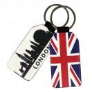 Porte-clé en simili cuir forme rectangulaire 4 x 7,5 cm marquage recto/verso (vendu à l'unité)