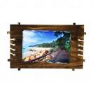Bloc ardoise brillant rectangle 18 x 26 cm cadre bois ép. 8 mm