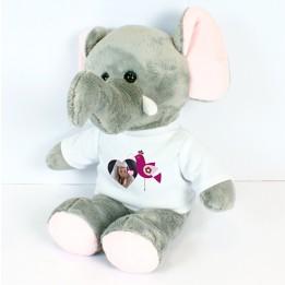 Peluche éléphant Jumbo avec mini tee-shirt