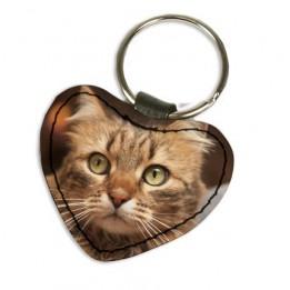 Porte-clé en cuir synthétique coeur 5 x 4,5 cm