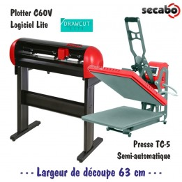Atelier Textile C60V + Presse TC-5 38 x 38 cm