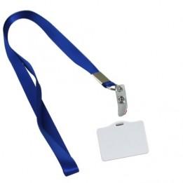 Badge en polymère avec tour de cou de couleur
