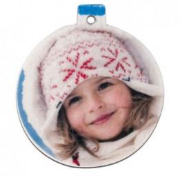Boule de Noël ronde en feutrine blanche 5,5 x 6 cm épaisseur 3 mm (vendu à l'unité)