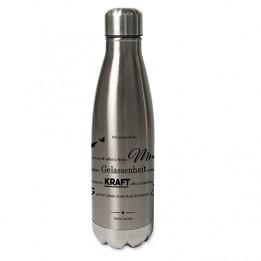 Bouteille isotherme en inox argent 500 ml avec bouchon à vis (vendu à l'unité)