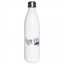 Bouteille isotherme en inox blanc 750 ml avec bouchon à vis (vendu à l'unité)