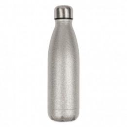 Bouteille isotherme en inox avec surface effet Spark Glitter argent 500 ml et bouchon à vis (vendu à l'unité)