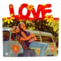 Cadre photo en MDF 22 x 20 cm - Love Horizontal pour sublimation (vendu à l'unité)