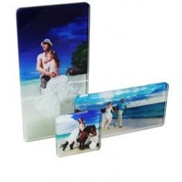 Cadre photo de table en verre avec 3 visuels différents