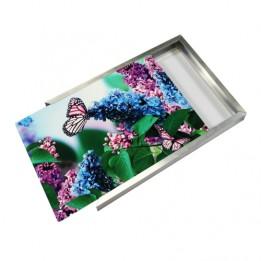 Cadre 24 x 36 cm argenté pour plaque alu HD Wunderboard