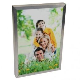 Cadre 30 x 40 cm argenté pour plaque alu HD Wunderboard