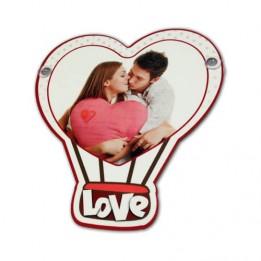 Plaque en MDF format coeur avec ventouses 15 x 16 cm pour sublimation (vendu à l'unité)