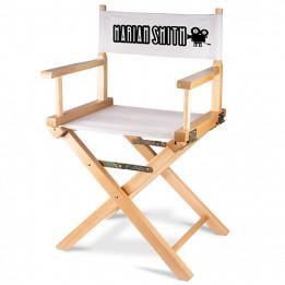 Chaise de réalisateur pliante en bois de bouleau avec tissu sublimable