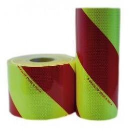 Chevron réflechissant jaune fluo/rouge