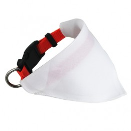 Collier rouge avec le bandana pour chien 20 à 30 cm Largeur 1 cm