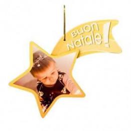 Comète (étoile filante) de Noël en plastique blanc 15 x 9,5 cm épaisseur 3 mm (vendu à l'unité)
