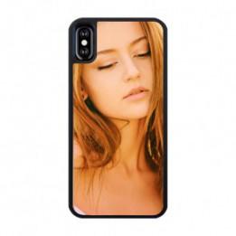 Coque 2D Iphone X en caoutchouc souple préformé noir ou blanc