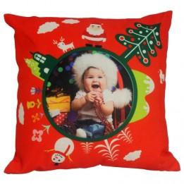 Housse de coussin de Noël rouge 45 x 45 cm pour sublimation