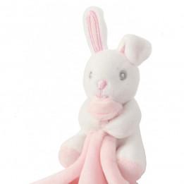 Doudou pour enfant lapin coloris rose 100% polyester Mumbles MM700