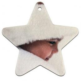 Etoile de Noël en feutrine blanche 7 x 7 cm épaisseur 3 mm (vendu à l'unité)