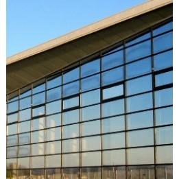 Film solaire bâtiment reflet miroir argent de l'extérieur