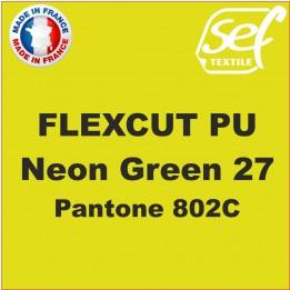 Flex thermocollant PU FlexCut Vert Fluo 27