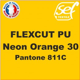 Flex thermocollant PU FlexCut Orange Fluo 30