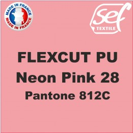 Destockage - PU FlexCut Rose Fluo 28 - Dimension 38,1 cm x 9,2 ML