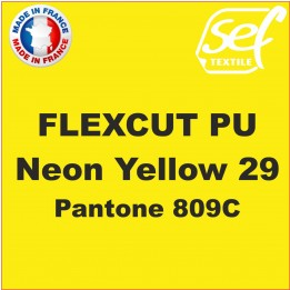 Flex thermocollant PU FlexCut Jaune Fluo 29